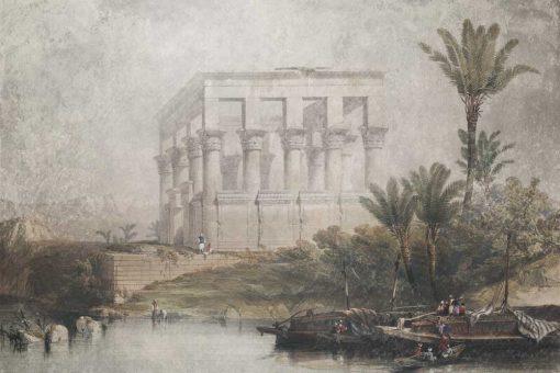 Fototapeta ze 艣wi膮tyni膮 w Egipcie