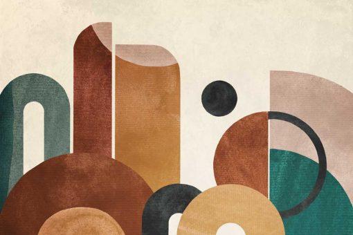 Tapeta z kolorow膮 abstrakcj膮