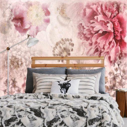 Fototapeta z piwoniami do sypialni