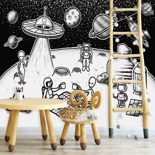 Tapeta piknik na Księżycu
