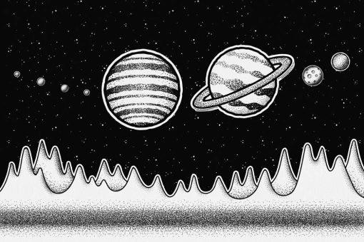 Tapeta z planetami Układu Słonecznego